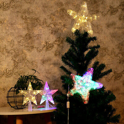 Christmas Tree Topper LED Lamp Battery Xmas Tree for Christmas Party Star Light