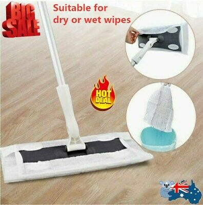 Static Cleaning Mop Sweeper Wet / Dry Wipes Laminate Wood Tile Floor Cleaner AU