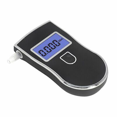 Personal Semi-conductor Breathalyser Digital Alcohol Breath Tester +5X Mouthpiec