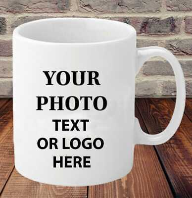 Personalised Photo Mug Text, Birthday Mum Dad Coffee Tea Cup Any Name Or Message