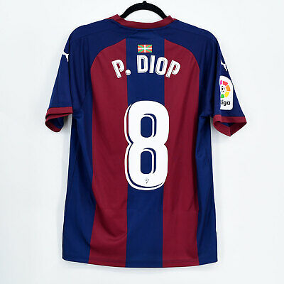 2018-19 Eibar Home Shirt #8 P. DIOP Puma Match Worn Jersey