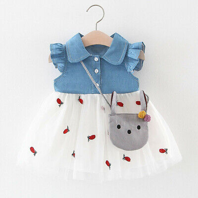 Toddler Baby Kids Girl Patchwork Ruched Print Tulle Tutu Dress Princess Dress V8