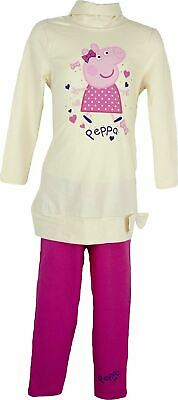 Girls Peppa Pig Clothing set Tunic / Dress & Leggings Cream-8 years / 128 cm