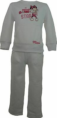 Girls Disney Minnie Mouse Jogging Suit / Tracksuit White-4 Years / 104 cm