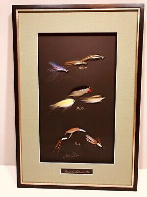 Art, Salt Water Fishing Flies, Framed & matted, Cape Cod, Signed original, New