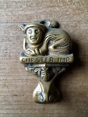 Vintage Brass Door Knocker Chester Imp Small Antique