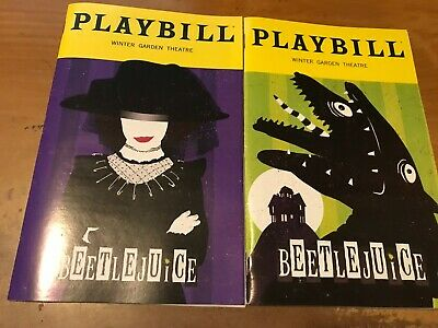 Beetlejuice, Oct 2019 Sandworm, and Jan 2020 Lydia, (Any 5 Playbills for $25)