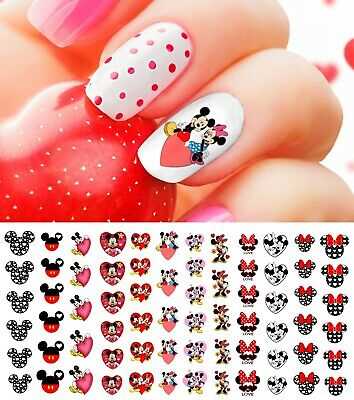 Mickey Mouse & Minne Mouse Valentines Day Nail Art Decals - Salon Quality Disney
