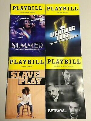 Playbills, Summer, The Lightning Thief, Betrayal,  Slave Play, (Any 5 for $25)