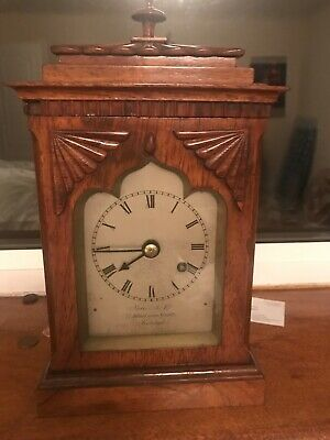 a english bracket clock antque 12 inch's high