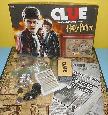 Clue Mystery Game Harry Potter Edition With Moving Hogwarts Game Board Complete