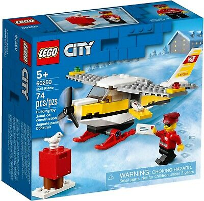 Lego City 60250 Great Vehicles City Mail Plane New Building Kit