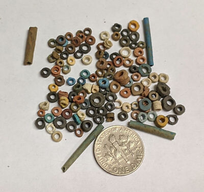 More than a Hundred 2500 Year old Ancient Egyptian Faience Mummy Beads (#L3142)