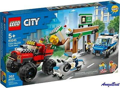 Lego City 60245 Great Vehicles Police Monster Truck Heist New Building Kit