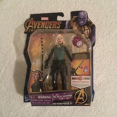 "Black Widow Avengers Infinity Marvel Hasbro Action Figure 6"" New Sealed 2017"