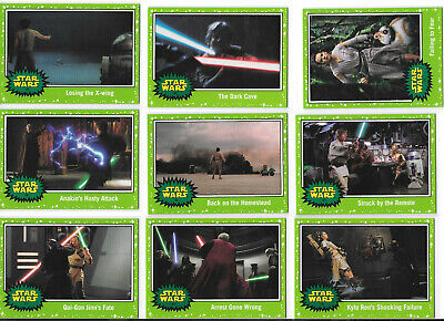 Journey To Star Wars: The Rise Of Skywalker 18 Card Green Parallel Lot