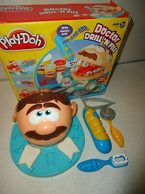 Play doh Dr. Drill n Fill dentist set-has working drill-missing 1 piece from set