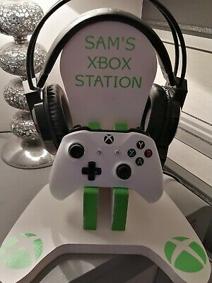 wooden xbox controller and headset stand personalised
