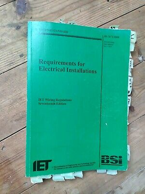 BS7671 17th Edition Green Wiring Regs Regulations Book