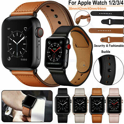 For iWatch Apple Watch Series 5 4 3 2 1 38/40/42/44mm Genuine Leather Band Strap