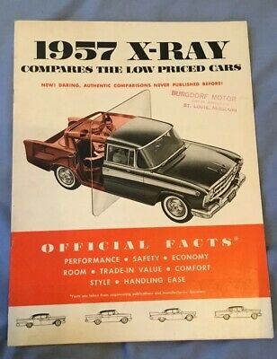 1957 X-Ray Official Compares The Low Priced Car Rambler BURGDORF MOTOR ST. LOUIS