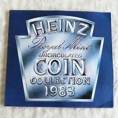 1983 ROYAL MINT UK UNCIRCULATED HEINZ 7 COIN SET - sealed pack