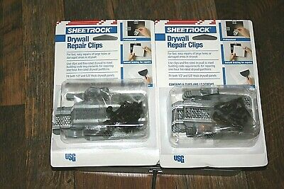 "2X SHEETROCK Brand 6-Pack Drywall Repair Clips Fits 1/2"" and 5/8"" Drywall USG"