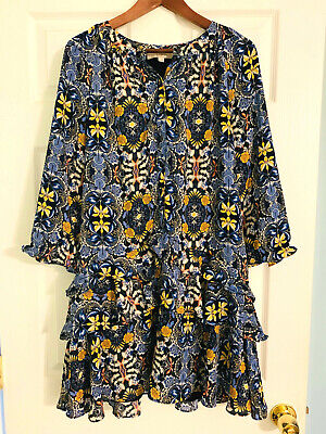 NWT Ann Taylor LOFT Floral Tiered Dress various sizes Red