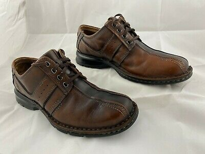 NEW CLARKS MAHALE EDGE BROWN LEATHER SHOES COMFY CASUAL SHOES SIZE 7,7.5,8.5