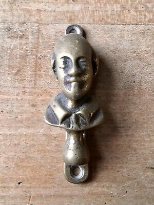 Vintage Brass Door Knocker Male Figure Small Antique