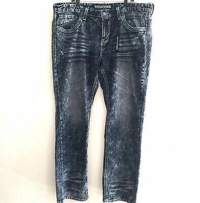 NEW AFFLICTION JEANS $135 MENS ACE STANDARD STRAIGHT IN DURANGO SZ 36//34