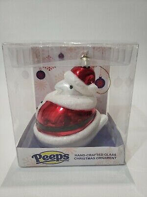Peeps Hand Crafted Glass Christmas Ornament Kurt S Adler Red New
