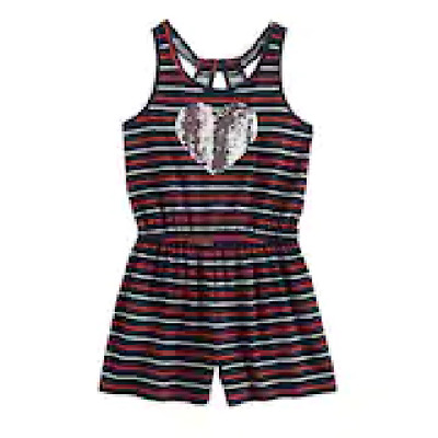 Girls Plus Size SO® Patriotic Romper