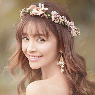Boho   Floral Hairband  Crown  Headband  Party  Bride  Flower Women sweet