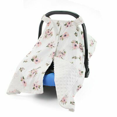 Infant Car Seat Canopy Nursing Scarf Carseat Cover Boy Girl Baby Shower Gift