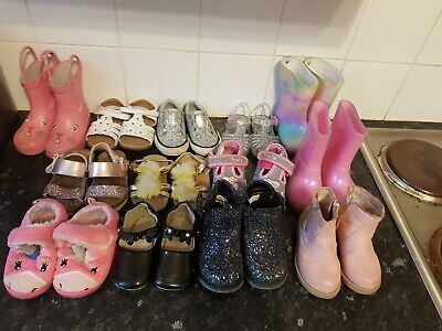 Bundle of Toddler Girls Size 4 Shoes Wellys And Boots