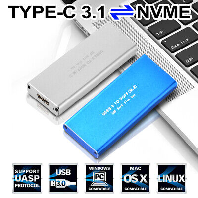 2230 2242 2260 2280 M.2 B Key NGFF SATA SSD to USB 3.0 Adapter Converter Case