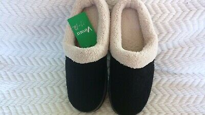 Wool Plush Fleece Slip On Memory Foam Clog House Slippers Men's Size 11-12 - NWT