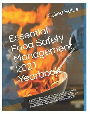 Culina Salus Food Safety Management 2020 Year Book.Diary Sheets Paperback