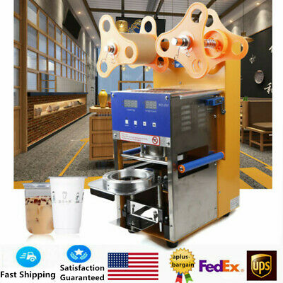 Fully Automatic Cup Sealer Sealing Machine for Flat Lipped Cups 110V 400W