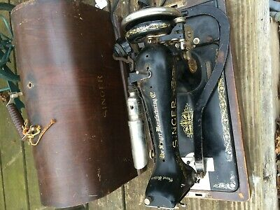 antique 1923 SINGER VINTAGE 99k Sewing Machine SERIAL # y1498728 betwood case