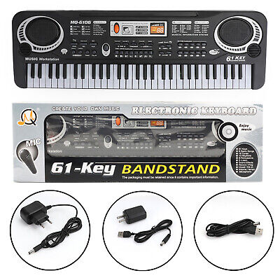 Music Electric Digital Piano Organ + Microphone 61 Key Electronic Keyboard T3