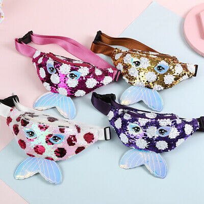 Kids Baby Sequins Belt Waist Wallet Hip Pouch Bum Bag Travel Holiday Party Bags