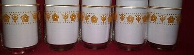 Corning Corelle Butterfly Gold 4 Ounce Juice Glasses Set Of 5 Gold Rim