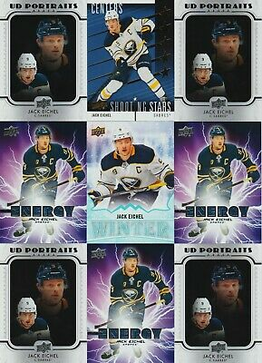 Jack Eichel 9 Card Lot 2019-20 Upper Deck Pure Energy Shooting Stars Ud Winter