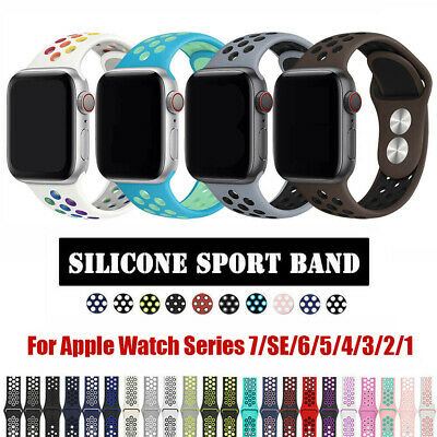 For NK+ Apple Watch Series 1 2 3 4 5 6 SE Silicone Sport iWatch Band Strap
