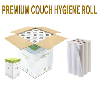 "Premium Quality White 20"" Couch Rolls Hygiene Massage Medical Salon Beauty Paper"