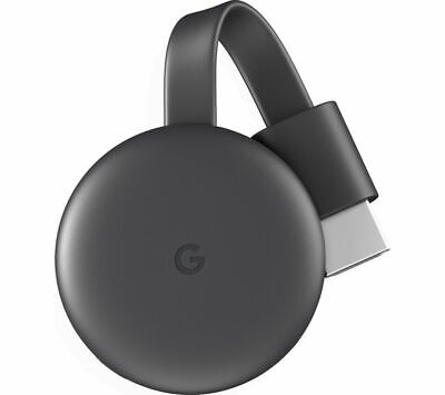 Google Chromecast (3rd Generation) - Charcoal - Brand New Sealed