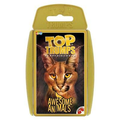 Top Trumps Educational Fun Card Game - AWESOME ANIMALS (Damaged case)