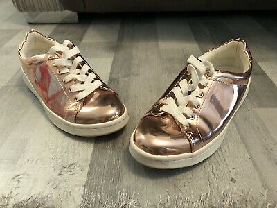 Girls Size 5 Rose Gold Metallic Trainers New Look 915
